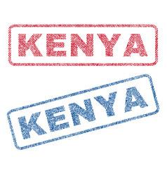 kenya textile stamps vector image