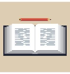 Opened book vector