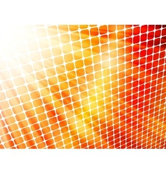 Red yellow rays light 3D mosaic EPS 10 vector image vector image