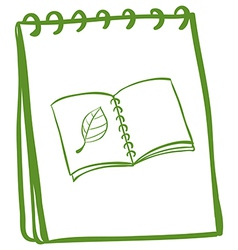 A notebook with a drawing of a book at the cover vector image
