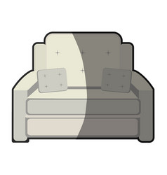 armchair cushions furniture home image vector image vector image