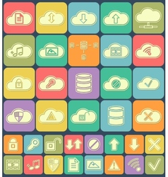 Cloud Storage Data analysis database network vector image