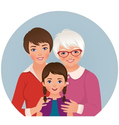 Grandmother mother and daughter vector image