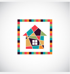 House abstract real estate background vector