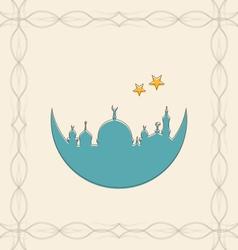 Islamic card for ramadan kareem vector