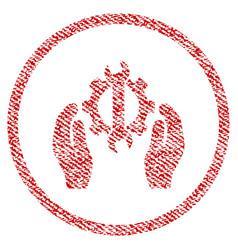 Repair service fabric textured icon vector