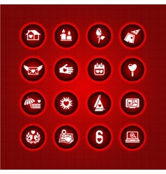 set valentines day icons love romantic sign vector image vector image