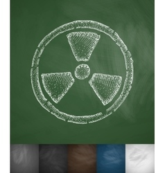 symbol of toxicity icon vector image