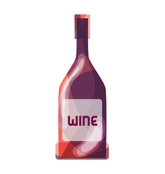 Wine bottle liquor beverage vector