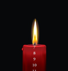 Advent candle red 7 vector image vector image
