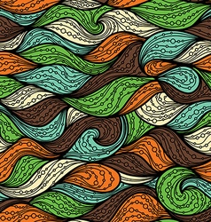 Bright seamless wave pattern vector image