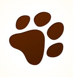 Brown footprint vector