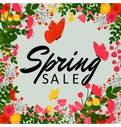 Colorful spring sale background vector image vector image