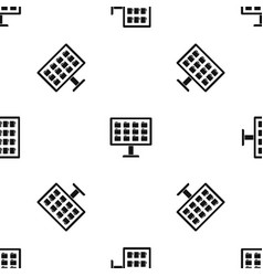 desktop of computer with folders pattern seamless vector image vector image