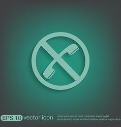 Forbidden to use phone forbidding symbol vector