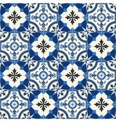 Seamless Turkish Moroccan Portuguese tiles vector image