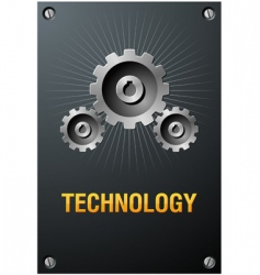 technology sign vector image vector image