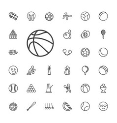 33 ball icons vector