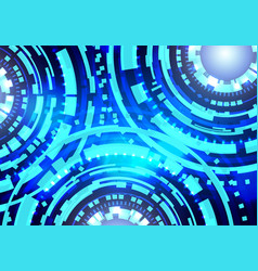 abstract circle technology futuristic interface vector image