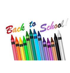 back to school with crayons vector image