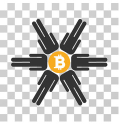 bitcoin pool community icon vector image