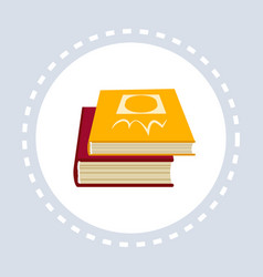books icon business learning education concept vector image