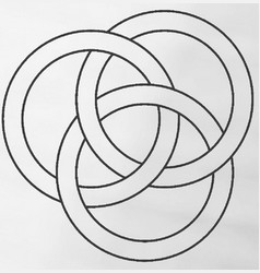borromean rings vector image