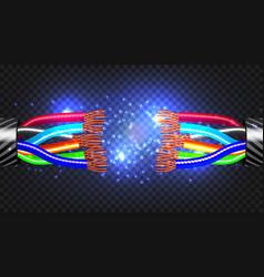 break electric cable cable break vector image