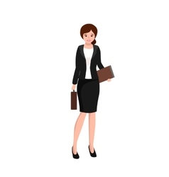 business woman working in office worker with file vector image
