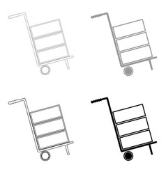 Cart delivery or shipment icon the black and grey vector