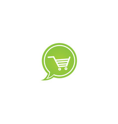 Cart for shopping symbol a shape online shop in vector