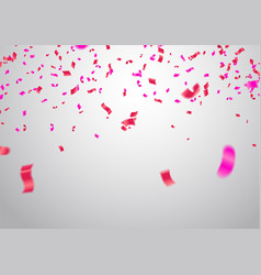 celebrate banner party flags with confetti vector image