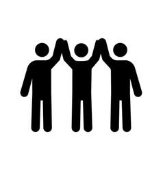 Charity organization glyph icon vector