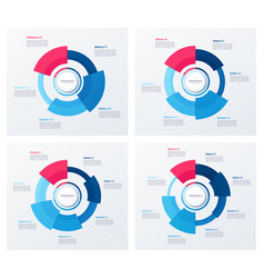 circle chart designs modern templates for vector image