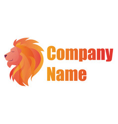 colorful lion head and blank text for company vector image