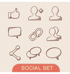Communication symbols set vector image