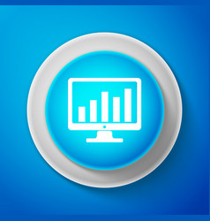 computer screen with financial charts and graphs vector image