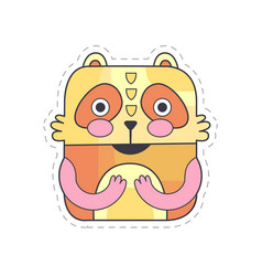 Cute bear colorful cloth patch applique for vector