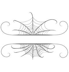 decorative spider web border vector image