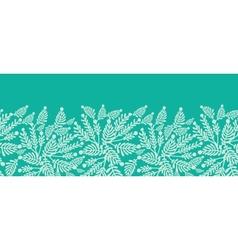 Emerald green plants horizontal seamless pattern vector