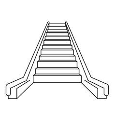 escalator icon outline style vector image