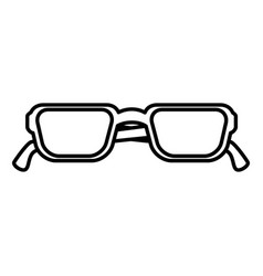 Eye glasses modern style vector