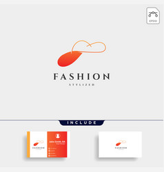 fashion lady beauty collection in simple line vector image