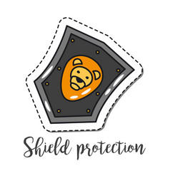 fashion patch element shield vector image