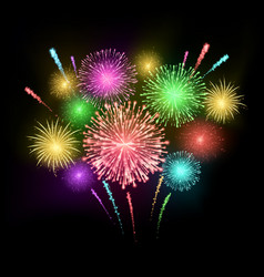 festival firework colorful carnival fireworks vector image