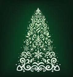 fir tree vector image