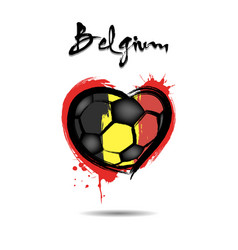 Flag of belgium in the form of a heart vector
