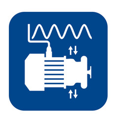 Flat design icon of vibration analysis vector