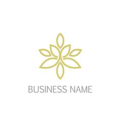 floral ornament line logo vector image