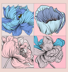 floral pattern can use be for shawl decor vector image